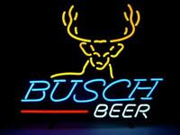 "Busch Beer Light Neon Sign Store Display Real Neonbeer Bar Sign 24""X20"""