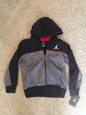 Air Jordan Jumpman 23 Therma-Fit Youth Boys Black Gray Cement Hoodie Size Small