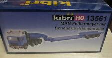 Kibri H0 13561 MAN Schwerlastzug Felbermayer Scheuerle Prismenroller __ NEU