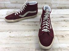 0981792548 Vans Sk8 Hi Burgundy Suede Leather Skate Shoes Men s Size 13 Athletic  Sneakers