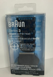 Braun Series 3 BT32 Beard Trimmer Head Attachment & 5 Combs for Electric Shaver