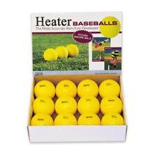 12 Pack Trend Sports Heater Yellow Pitching Machine Baseballs PMB29
