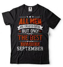 Born in September T-shirt Birthday Gift T-shirt Tee Birthday shirt Tee
