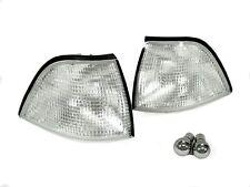 DEPO Euro Clear Corner Light + Chrome Bulbs For 92-99 BMW E36 2D Coupe & Cabrio