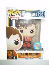 DOCTOR WHO POP! Vinyl 10th Dr in Orange Spacesuit Figure 234 NEW YORK COMIC COM