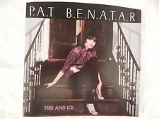 """PAT BENATAR """"Fire And Ice"""" PICTURE SLEEVE! BRAND NEW! ONLY NEW COPY ON eBAY!"""