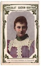 1900s French Trade Card Royalty Alexandrine of Mecklenburg-Schwerin Danish Queen