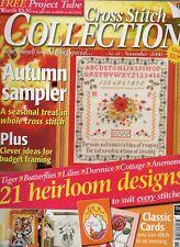 Cross Stitch Collection magazine. No.58 Autumn sampler, Tiger, cottage, flowers