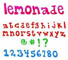 Sizzix Bigz XL Lemonade Lowercase alphabet & number die #A11110 Retail $69.99
