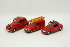 Brumm SB 1/43 - Lote de 3 Fiat Bomberos