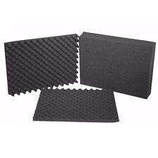 Koffer einlagen einsatz Noppen Raster Schaum stoff SET ca. 43x32x15 cm (69067 D)
