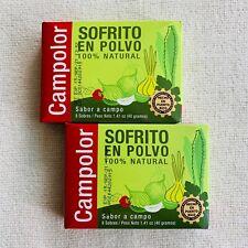 Campolor Powdered Seasoning Sofrito en Polvo 100% Natural 2 Boxes 16 Pks 10/2021