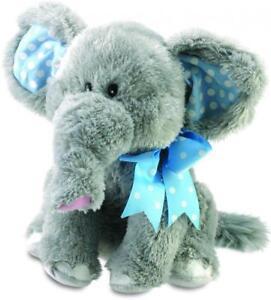"CUDDLEBARN ELLIOT  ELEPHANT sings ""DO YOUR EARS HANG LOW""HIS EARS FLAP Very Cute"