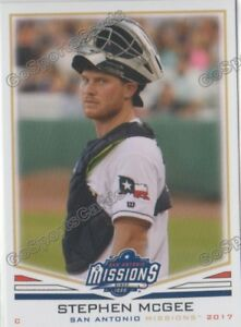 2017 San Antonio Missions Stephen McGee RC Rookie San Diego Padres