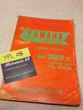 Yamaha parts list Chappy 80 1975 type 511 LB80IIH LB80 2H LB 80 catalogue piece