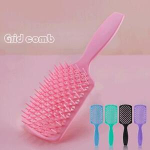 Women Hair Scalp Massage Comb Bristle Nylon Hairbrush Curly Wet Detangler L8N0