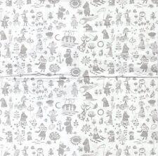 2 Serviettes en papier Moomin Trolls Hippopotame enfant Paper Napkins Characters