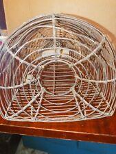 Antique Primitive Metal Wire Mouse Rat Rodent Trap Cage