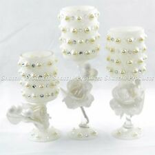 3 Glass Candle Holder Candelabra Dining Table Wedding Christmas Home Decorations