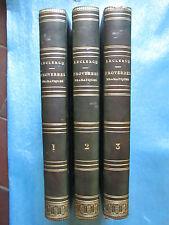 Théodore LECLERC : PROVERBES DRAMATIQUES, 1831. 3 volumes complet bien reliés.