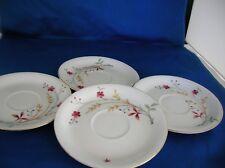 Vintage 4 Porcelain Saucers by Eschenbach Bavaria Germany Clarice design 1930's