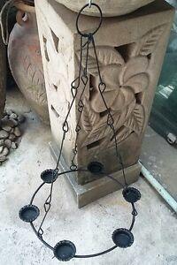 Black Hanging Candle Holder Handmade Home Garden Spa Decor Outdoor