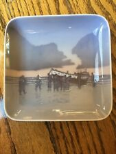 B&G Bing Grondahl Denmark Men Lifeboat Mb 10 Trinket Pin Tray Square 5� Dish