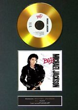 #104 MICHAEL JACKSON Bad GOLD CD Signed Reproduction Autograph Mounted A4