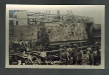 1919 Real Picture Postcard Czech Legion Boarding Ship in Vladivostock Russia