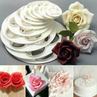 6 Stücke Fondant Kuchen Sugarcraft Rose Blume Ausstecher Küche Werkzeug Q0Y R6Y8