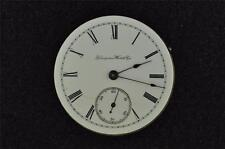 VINTAGE 16 SIZE HAMPDEN OPENFACE POCKET WATCH MOVEMENT - RUNNING