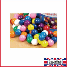 Magnetic Marbles 15mm, Plastic Coated Coloured Magnet Marbles x 20