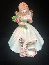 Vntg Josef Originals Birthday Angel Girl 16th Sweet Sixteen Figurine w/ Tag (Jj)