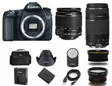 Canon EOS 70D DSLR Camera with EF-S 18-55mm IS Lens (4 LENSES) 1894C002