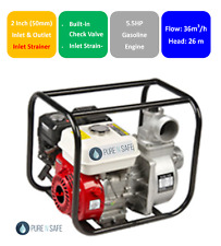 "2"" Water Transfer Pump 4 Stroke Petrol HIGH FLOW Irrigation Fire Fighting"