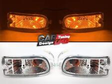 Clear Bumper Marker Turn Light Lamps For Subaru Impreza 1999-2000 GC8 GF8 WRX ST