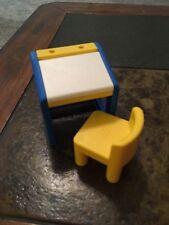 Little Tikes Dollhouse Center Art School Desk Yellow Chair Vintage