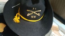 Reenactment cavalry hat vintage officer Nh 51 insignia's cavalry