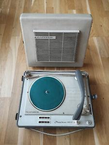 Telefunken Musikus 105 V, tragbarer Plattenspieler, Vintage, 60er Jahre, Phono