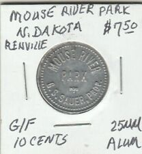(Z) Token - Renville, ND - Mouse River Park - G/F 10 Cents - 25 MM Aluminum