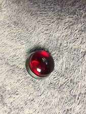 RED GLASS JEWEL BICYCLE TANK / CARRIER RACK OR AUTO LICENCE PLATE REFLECTOR