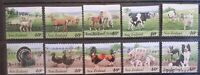 New Zealand 1995 Farmyard Animals Used Set of 10