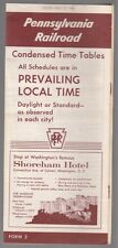 [33294] 1958 PENNSYLVANIA RAILROAD TIMETABLE (SHOREHAM HOTEL, WASHINGTON, D.C.)
