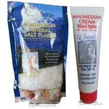 Magnesium Chloride Flakes 250g (Food Grade) & Magnesium Cream Papaya 20g. No Me