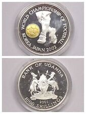 "Coin 1000 Shillings 925 Silver "" Japan/Korea 2002 "" Uganda 2001"