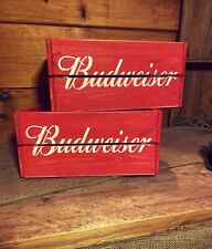 Rustic And Vintage Wooden Budweiser Crate - Box Storage