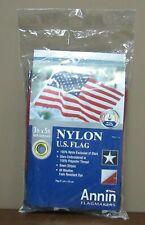 New listing Annin Us American Flag 3 x 5 Ft 100% nylon Embroidered Stars Grommets New!
