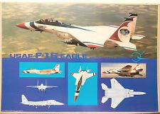 (PRL) AEREO AVION JET USAF F15 EAGLE MC DONNELL DOUGLAS AFFICHE POSTER ART PRINT