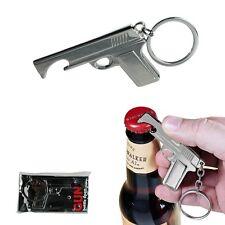 Porte-clés décapsuleur pistolet - Ouvre bouteille chromé - Gun bottle opener