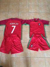 ensemble football + short enfants  rouge  no 7